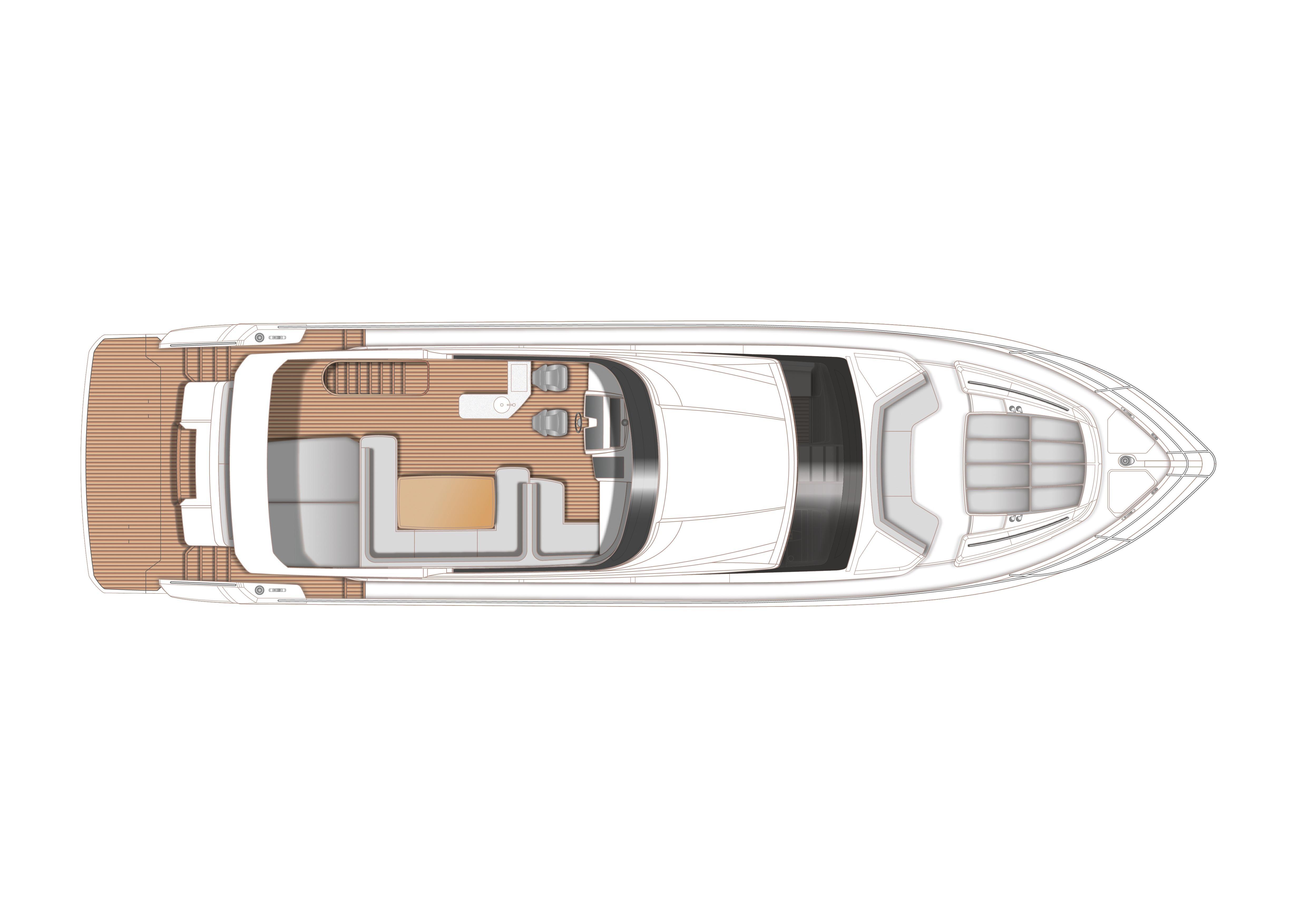 Manufacturer Provided Image: Princess 68 Flybridge Layout Plan