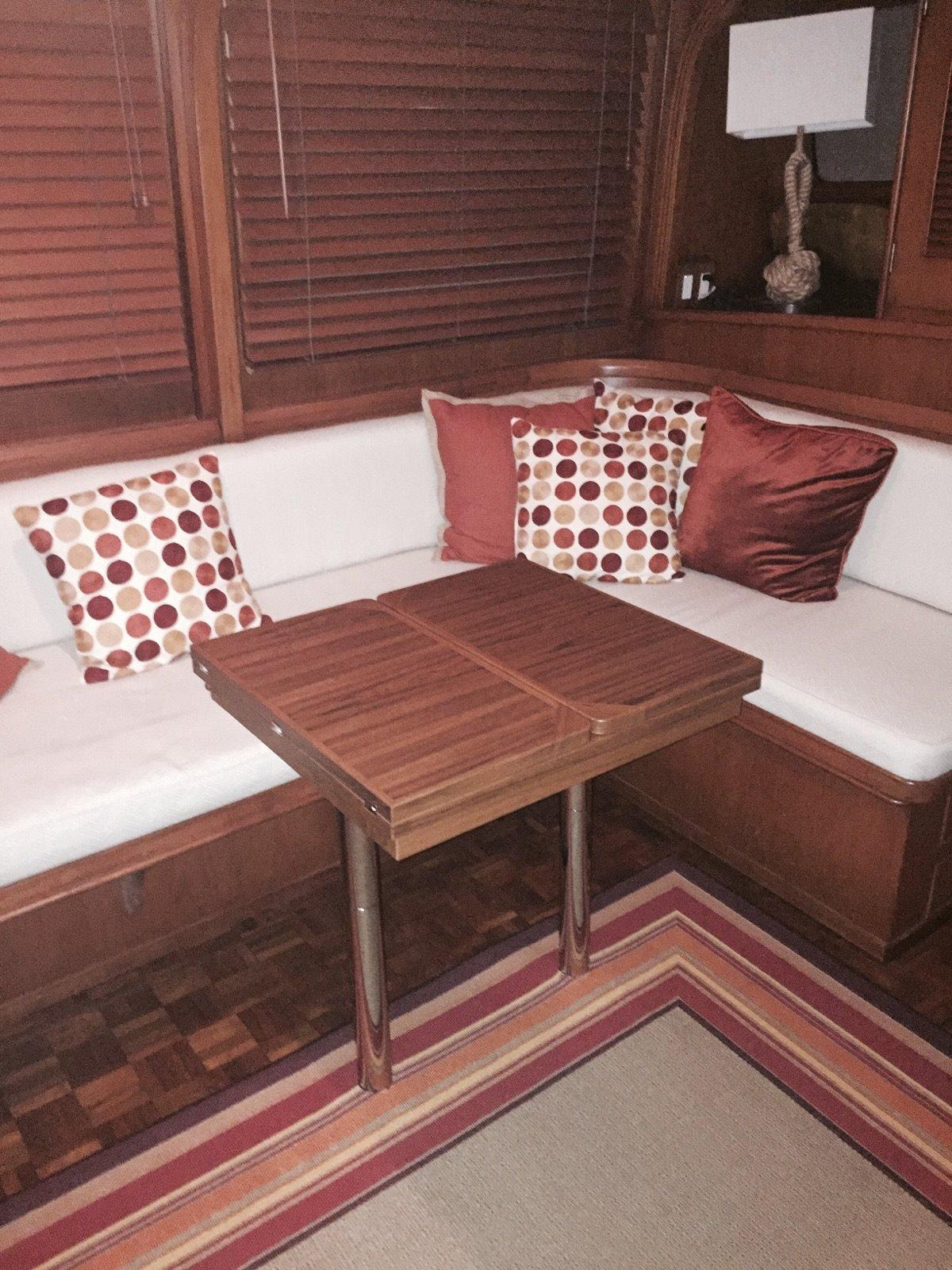 Adjustable Dining Table, Cocktail Table, And Double Berth.