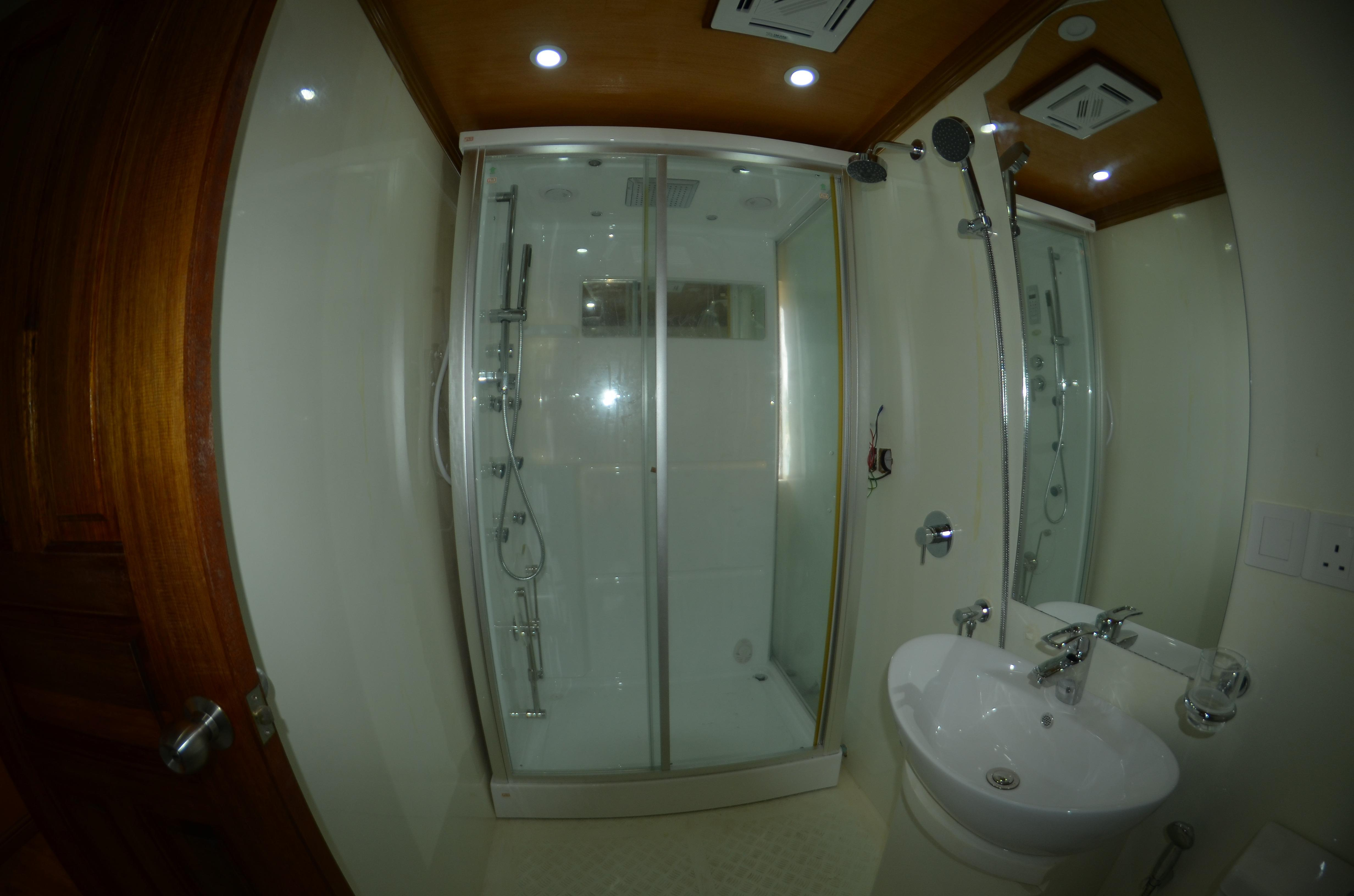 Custom 110 Motor Yacht VIP Head and Shower
