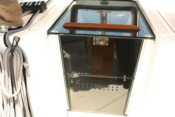 Companion Way Doors With Smoked Panels Sun Reduction