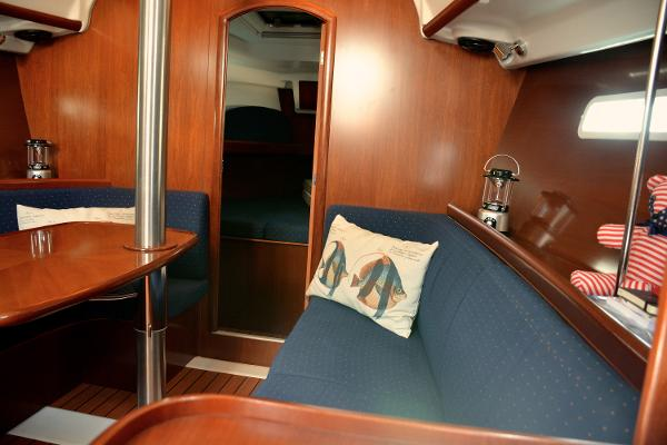 Starboard Seating Makes For A Nice Quarter Berth