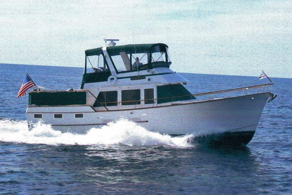 1984 Ocean Alexander 43 Flush Aft Deck For Sale