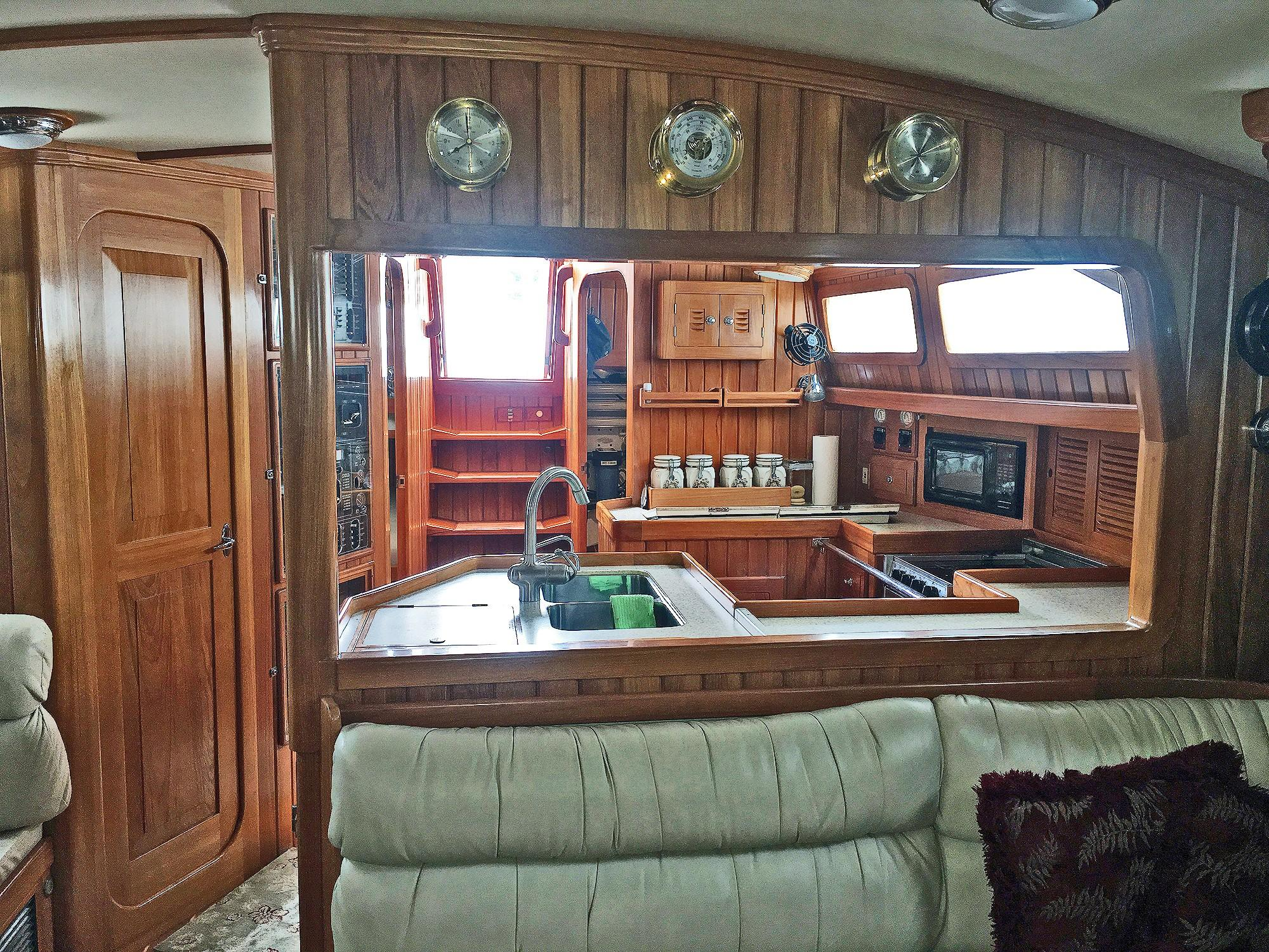56 Cabo Rico Salon, Looking Aft