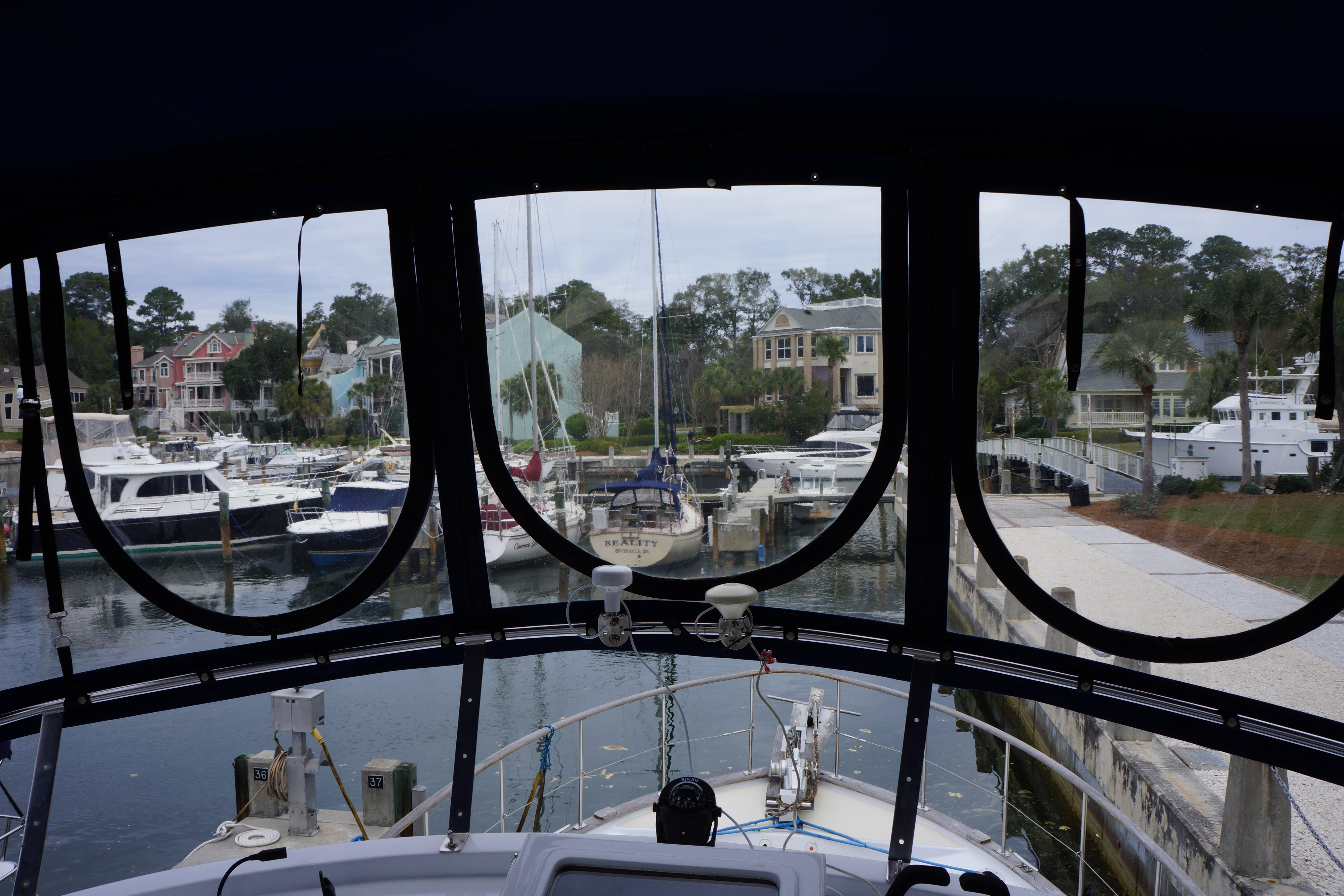 Marine Trader 43 LaBelle Trawler - new isinglass and canvas
