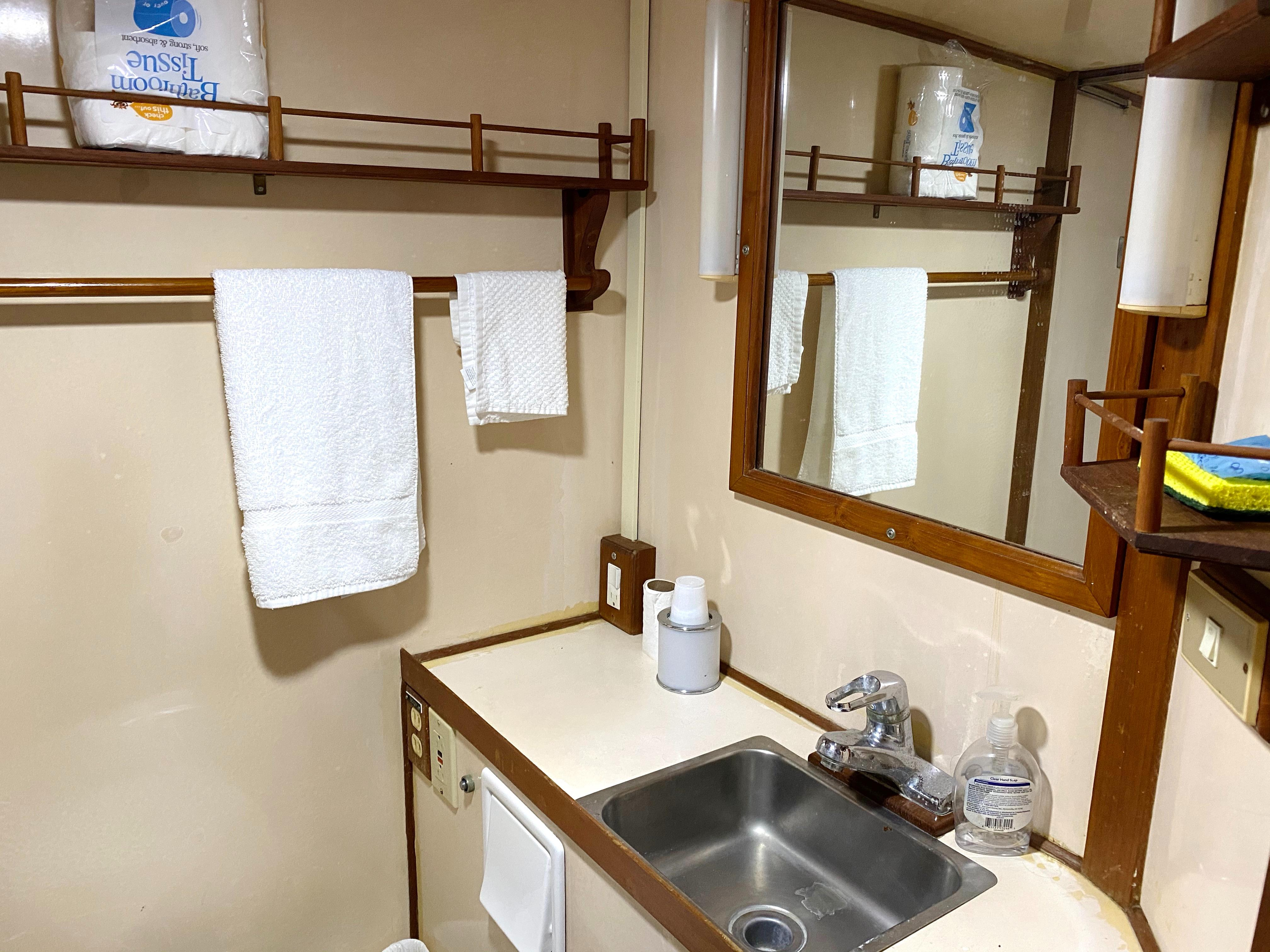 Marine Trader 43 LaBelle Trawler - head and sink