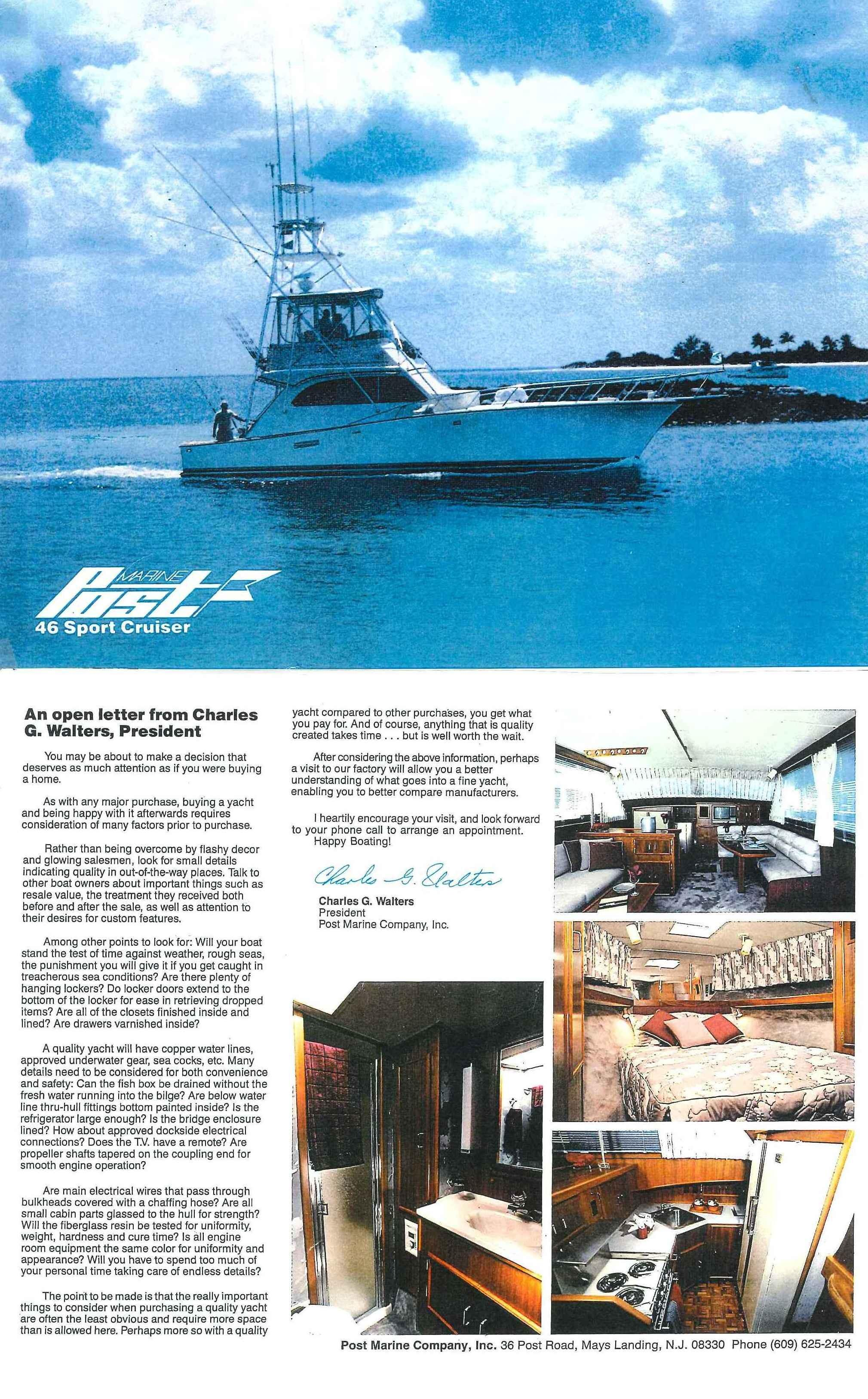 1987 Post 46' Convertible Boat | HMY Yacht Sales