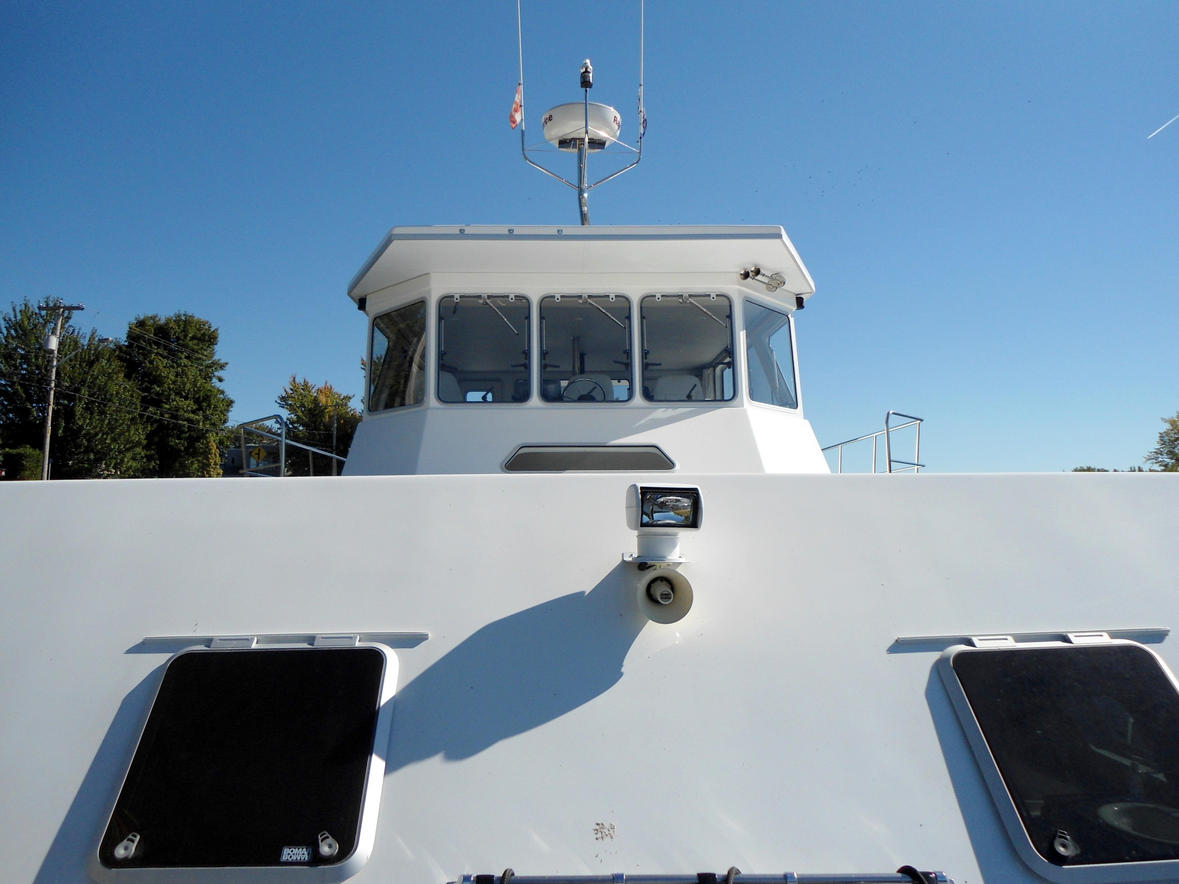 Flybridge Power Catamaran Enclosed Flybridge