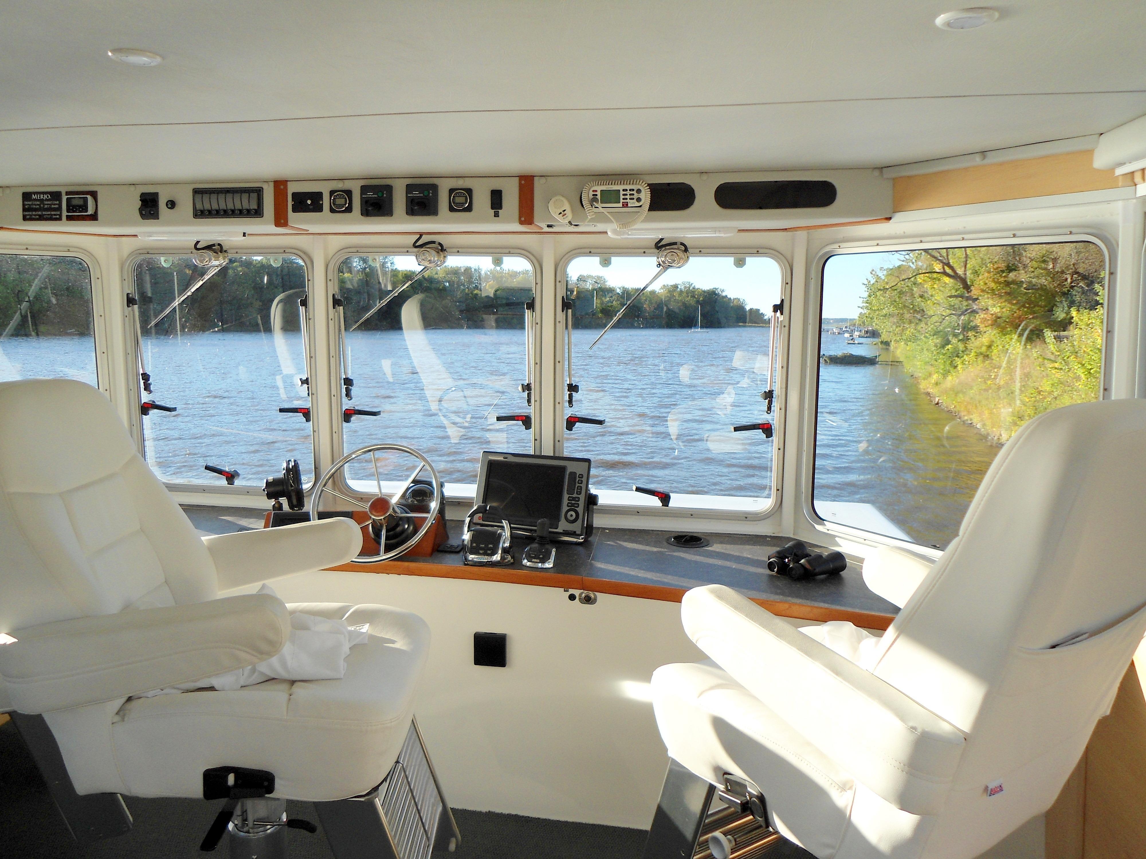 Flybridge Power Catamaran Helm Station
