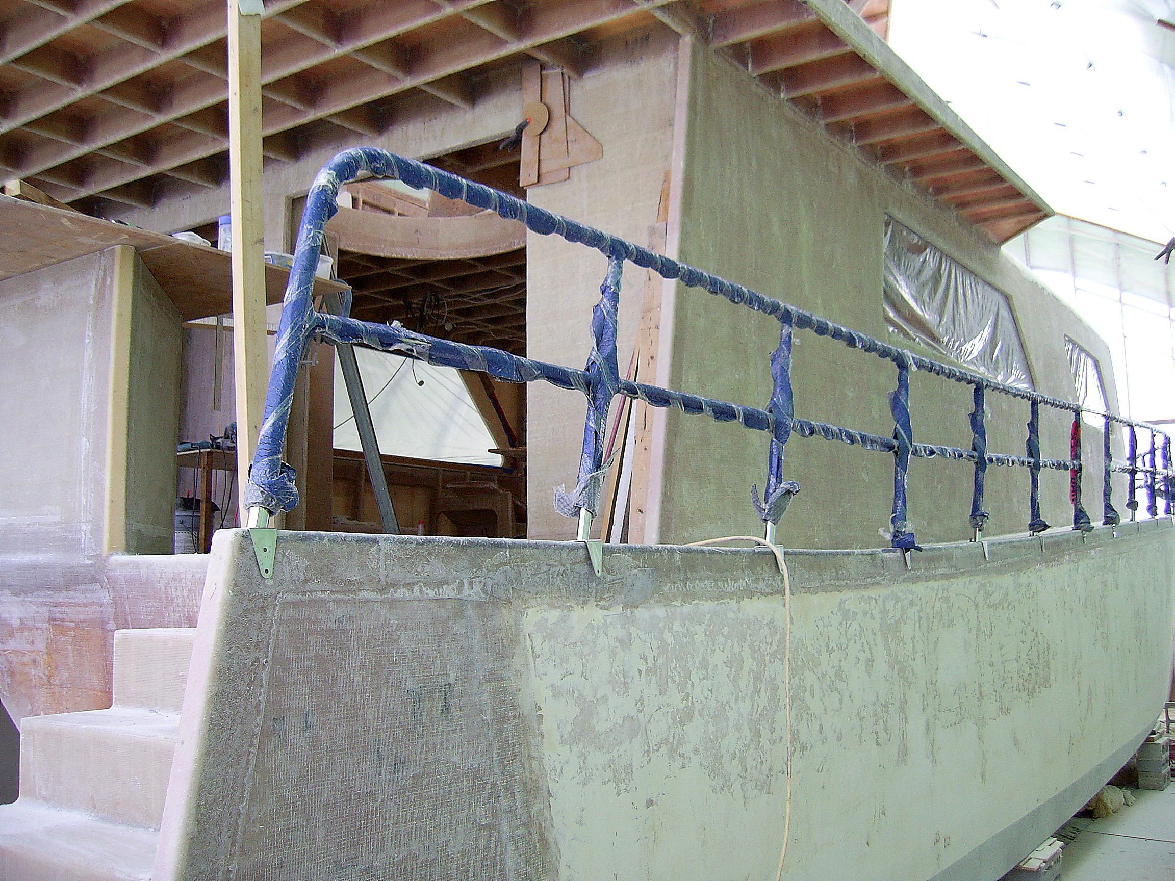 Flybridge Power Catamaran Under Construction