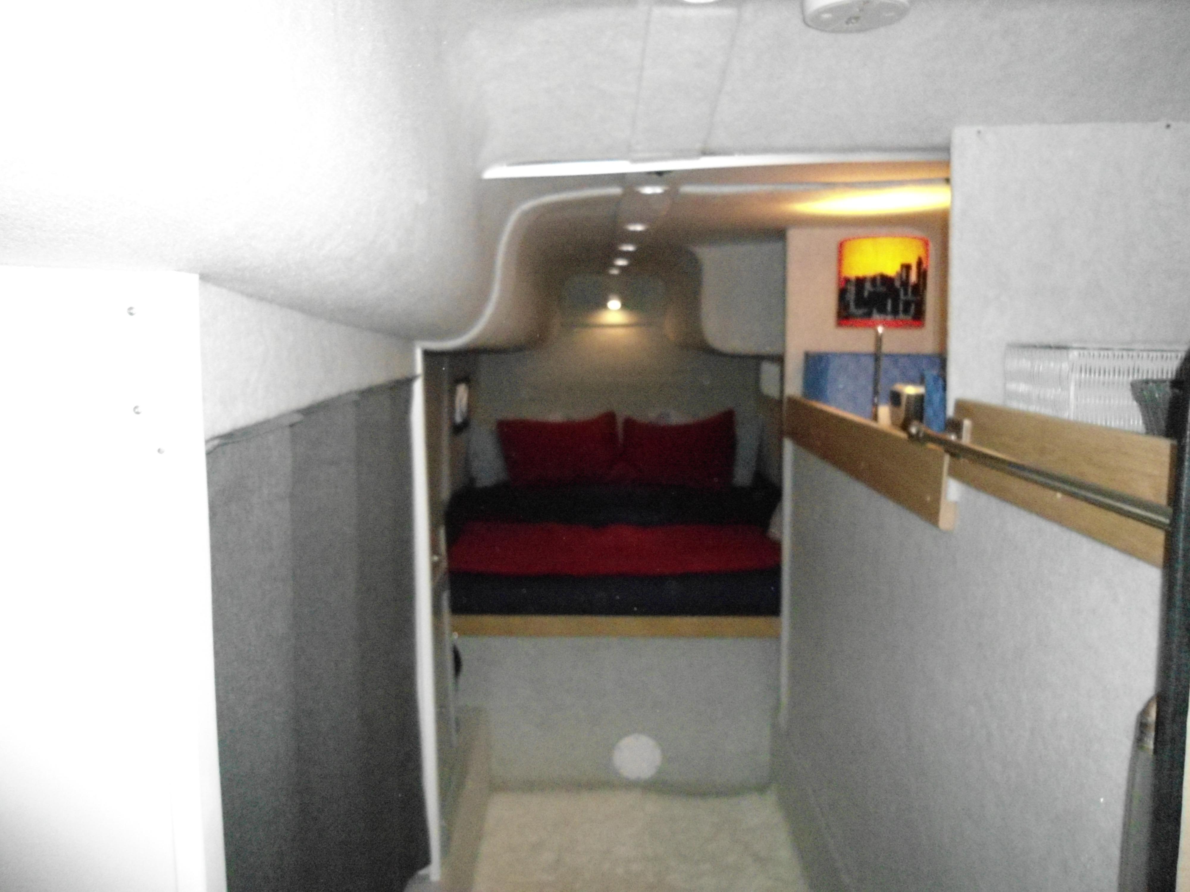 Flybridge Power Catamaran Guest Stateroom