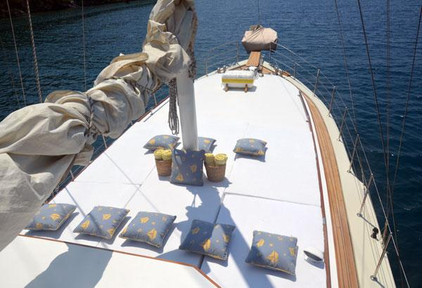 Aft Deck With Cushions With Sunbeds