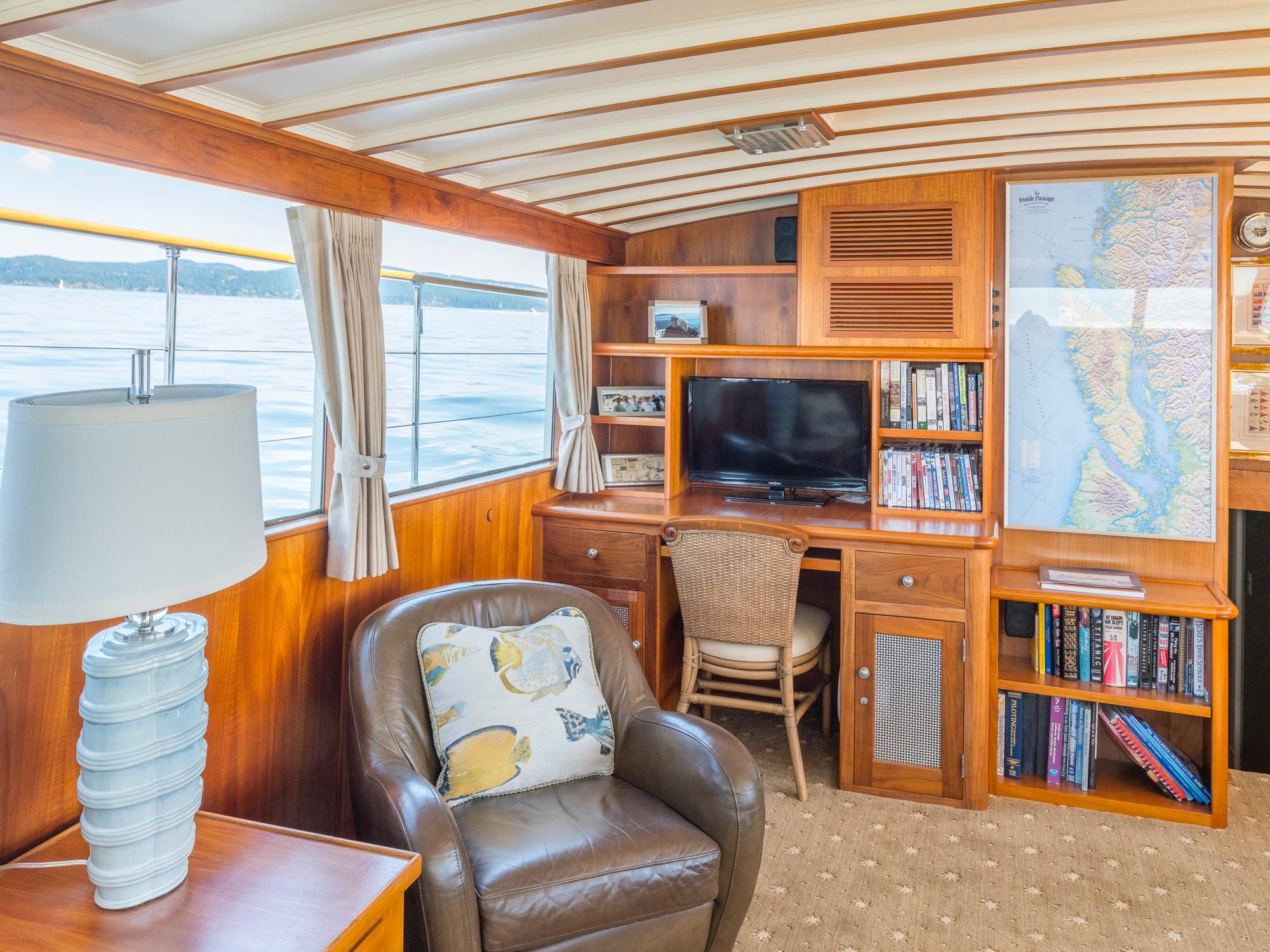 Salon Looking Aft Starboard Side