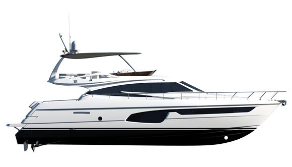 2016 Ferretti 650 - Line Drawing