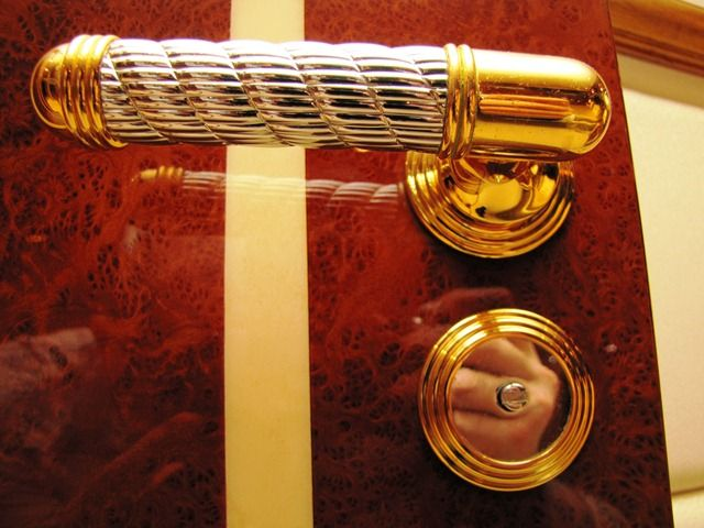 Millennium Yacht Gold-Plated Door Handles