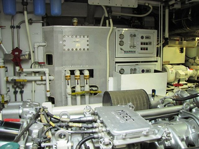 Millennium Yacht Engine Room