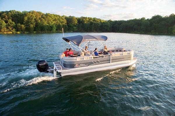 2021 Sun Tracker boat for sale, model of the boat is Party Barge 24 DLX & Image # 6 of 13