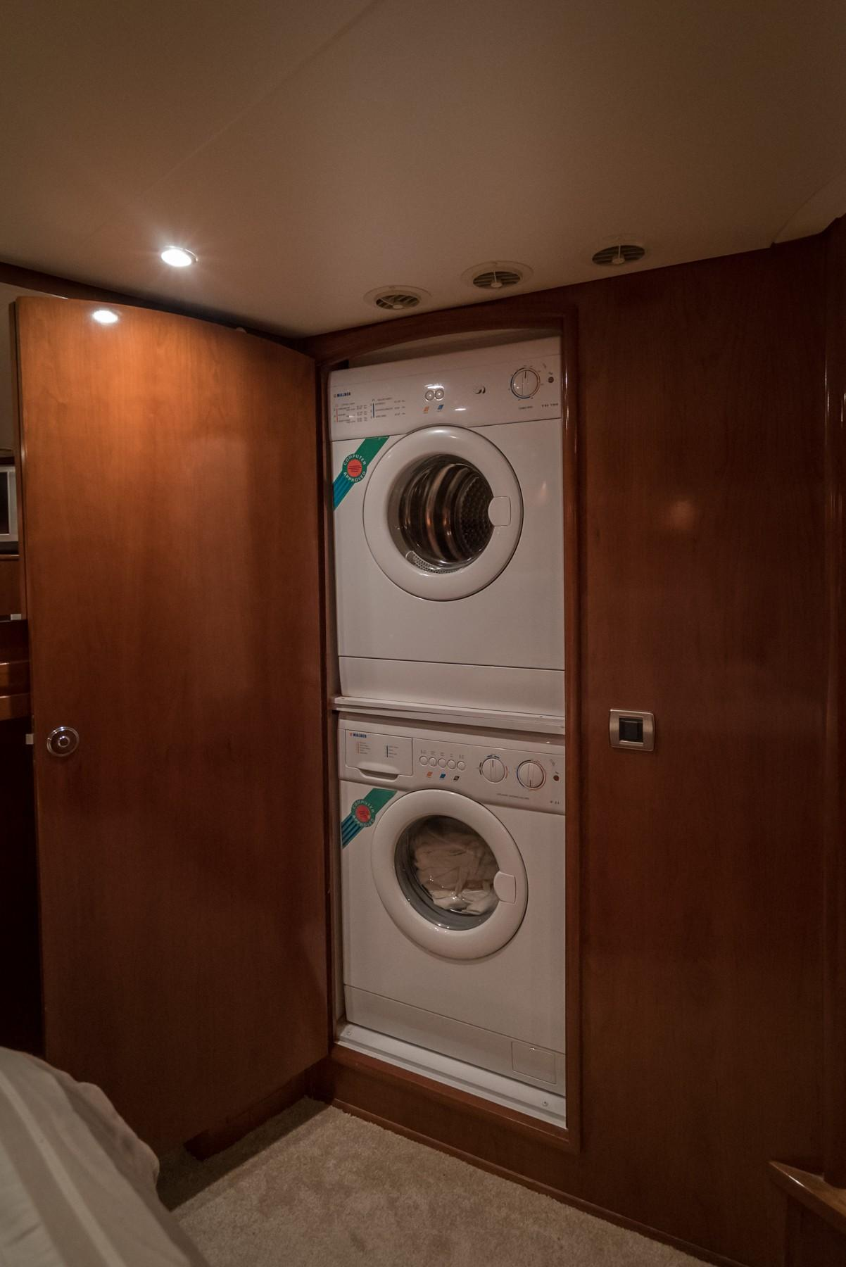 Master Stateroom Stackable Separate Washer and Dryer
