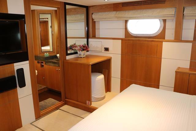 Portside guest cabin