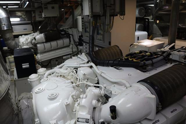 Starboardside MTU diesel engine