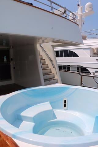 Jacuzzi leading to the top deck