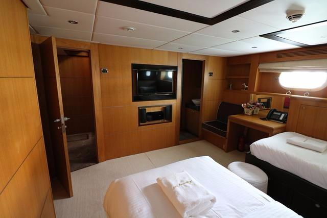 Portside aft guest cabin