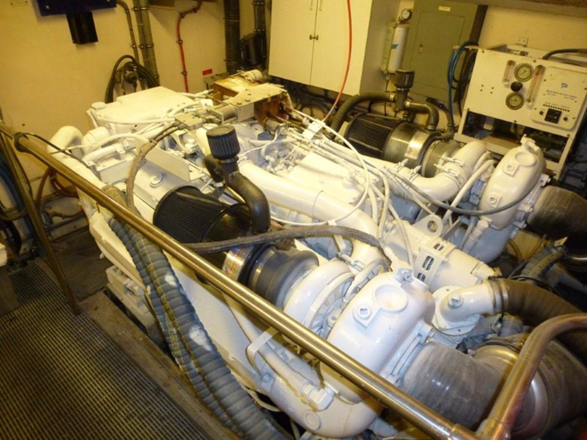 Hatteras 70 Motor Yacht - Engine Room 3