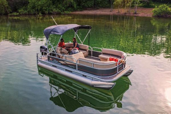 2019 Sun Tracker boat for sale, model of the boat is Party Barge 18 DLX & Image # 8 of 23