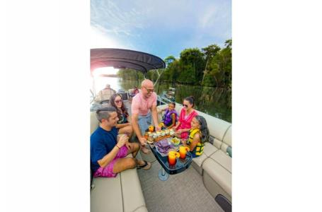 2020 Sun Tracker boat for sale, model of the boat is Party Barge 22 XP3 w/150L 4S & Image # 16 of 16