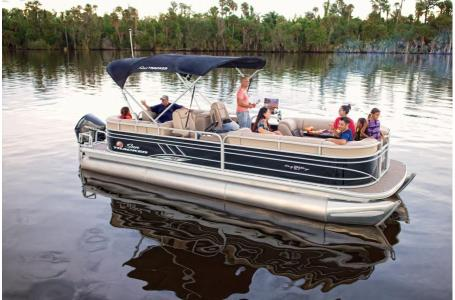 2020 Sun Tracker boat for sale, model of the boat is Party Barge 22 XP3 w/150L 4S & Image # 3 of 16