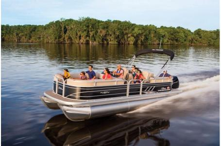 2020 Sun Tracker boat for sale, model of the boat is Party Barge 22 XP3 w/150L 4S & Image # 4 of 16