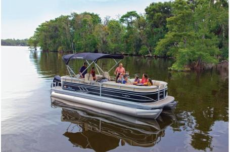 2020 Sun Tracker boat for sale, model of the boat is Party Barge 22 XP3 w/150L 4S & Image # 6 of 16