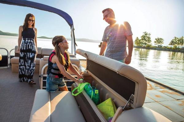 2019 Sun Tracker boat for sale, model of the boat is Party Barge 20 DLX & Image # 8 of 19