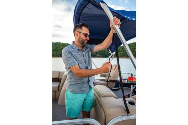 2019 Sun Tracker boat for sale, model of the boat is Party Barge 20 DLX & Image # 10 of 19