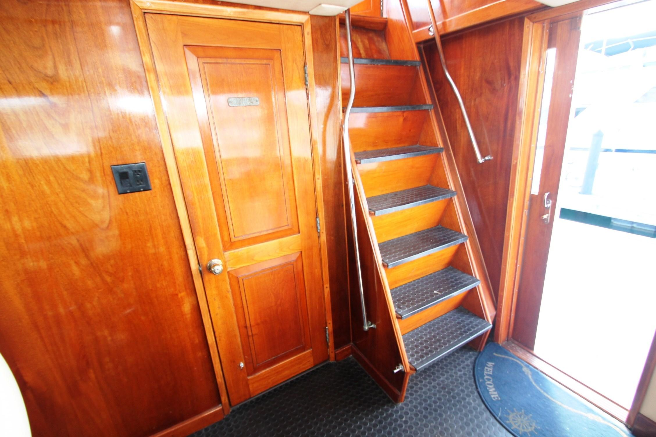 Stairs to Bridge from Pilothouse