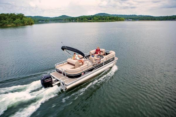 2019 Sun Tracker boat for sale, model of the boat is Party Barge 22 RF DLX & Image # 3 of 56