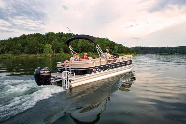 2019 Sun Tracker boat for sale, model of the boat is Party Barge 22 RF DLX & Image # 5 of 56