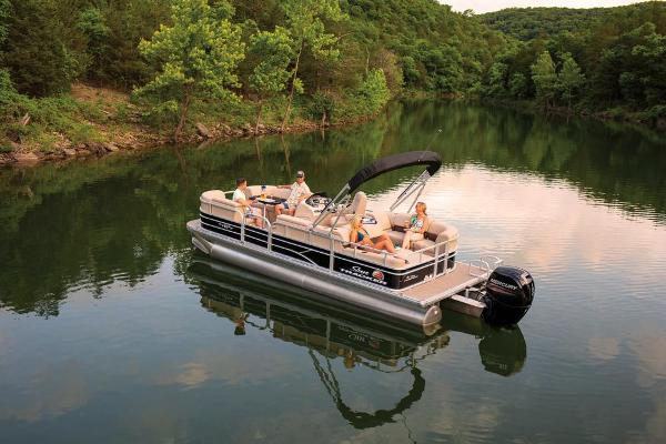 2019 Sun Tracker boat for sale, model of the boat is Party Barge 22 RF DLX & Image # 11 of 56