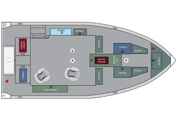 2021 Alumacraft boat for sale, model of the boat is Competitor 175 Tiller & Image # 8 of 8