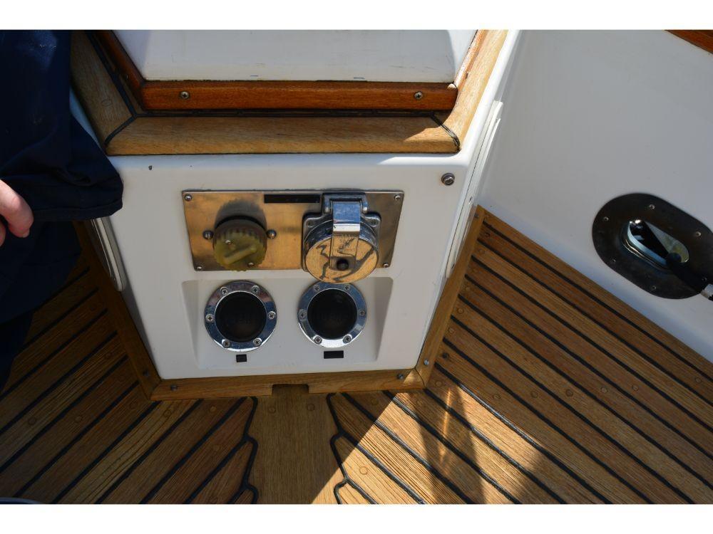Grand Banks Sedan - Shore Power Hookup and Windlass Pedals