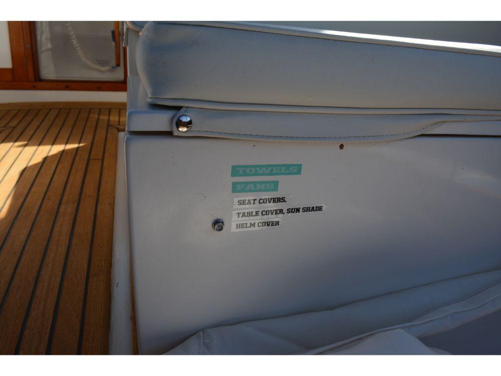 Grand Banks Sedan - Upper Helm Storage