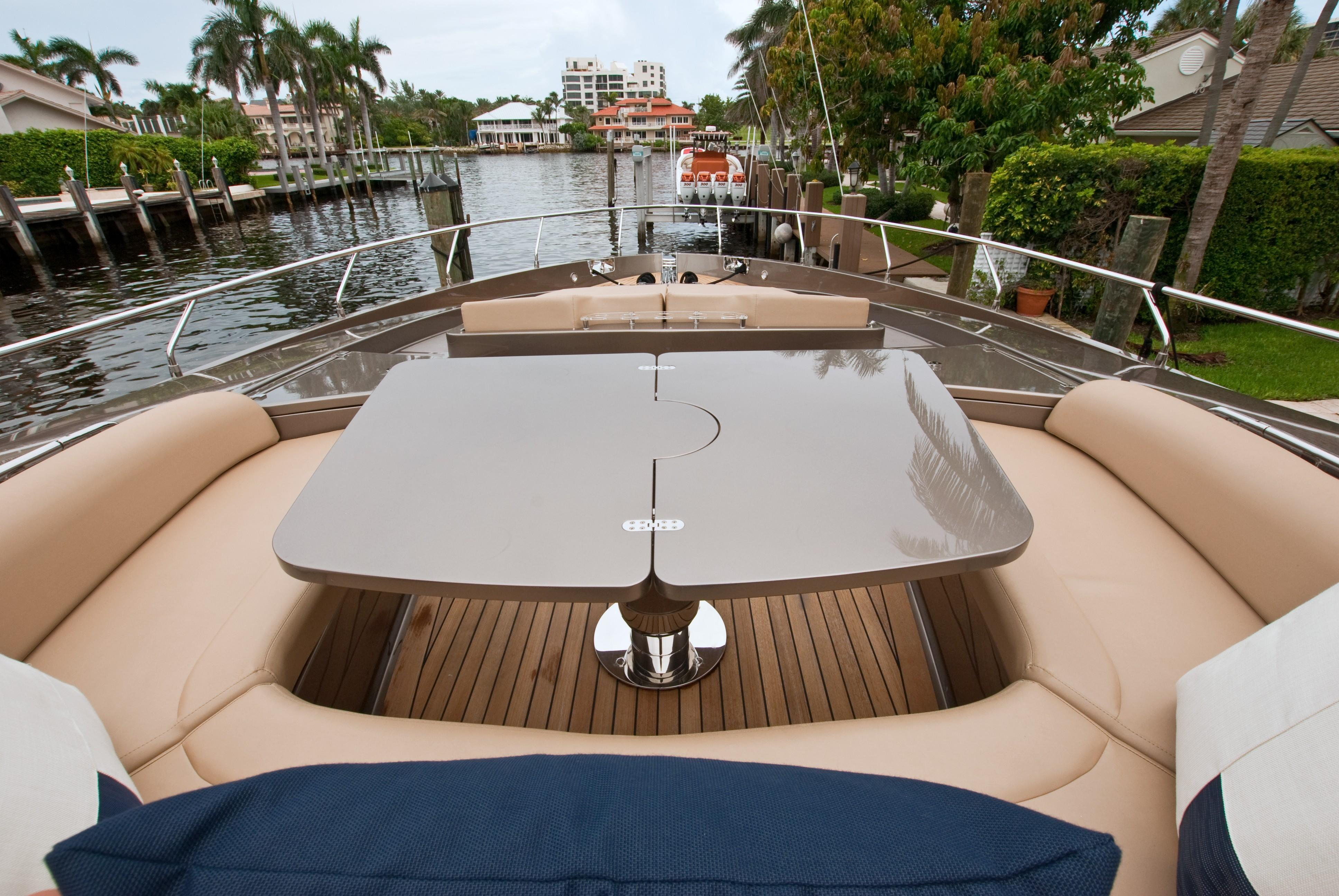 2012 Riva 86 Domino - Bow Seating and Table