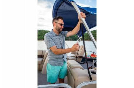 2019 Sun Tracker boat for sale, model of the boat is PARTY BARGE 22 w/ Mercury 115Hp 4S & Image # 9 of 21