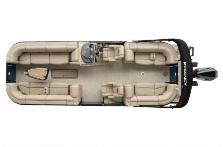 2020 Regency boat for sale, model of the boat is 250 LE3 w/300L Verado & Image # 4 of 27