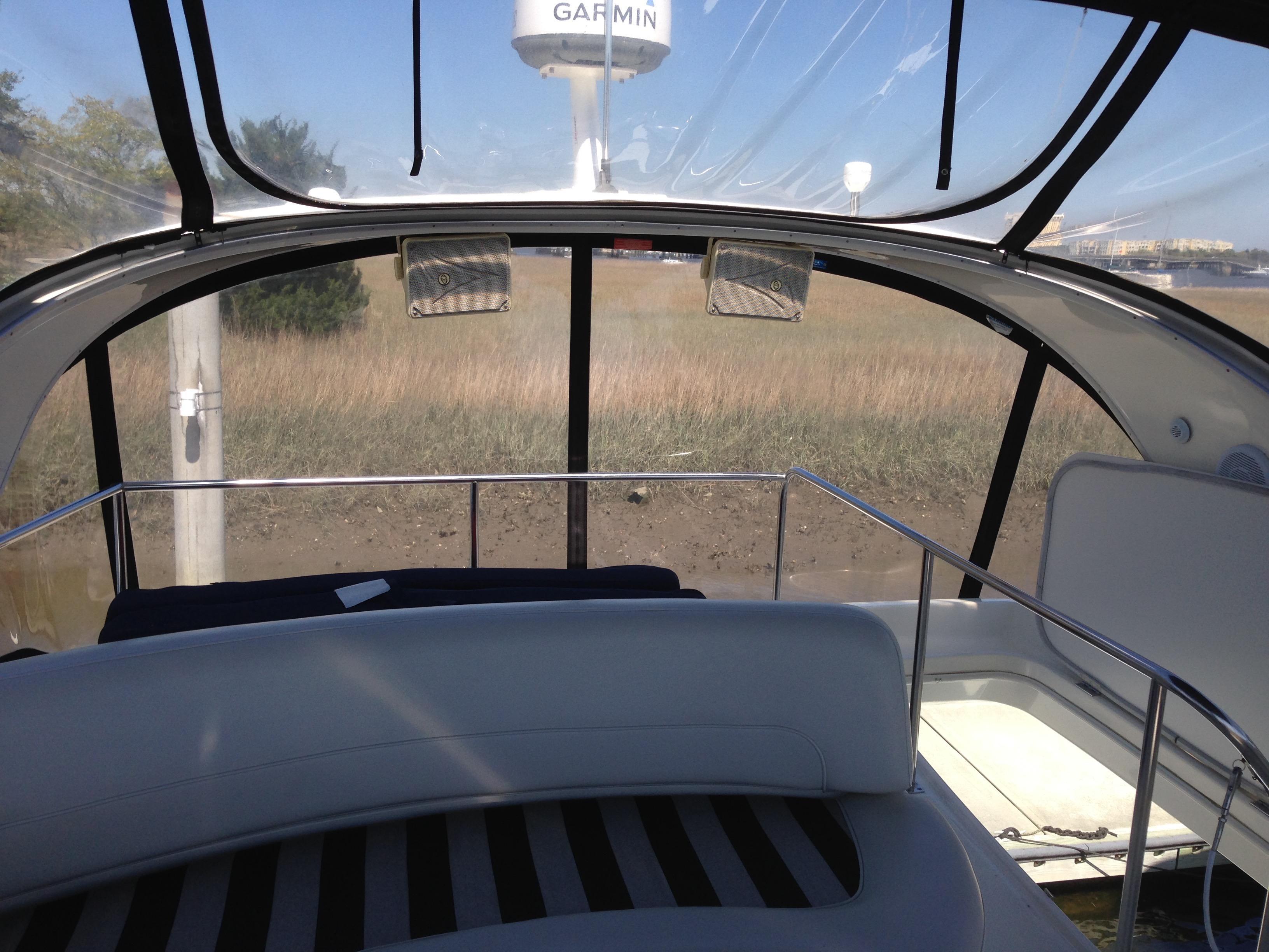 Meridian 411 Sedan - View from bridge aft