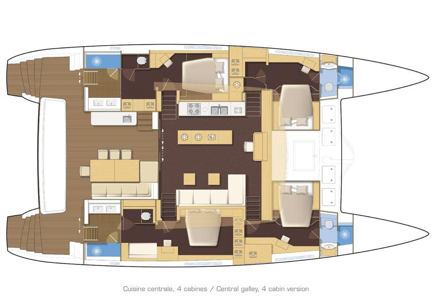 helloManufacturer Provided Image: Lagoon 620 4 Cabin Layout Plan