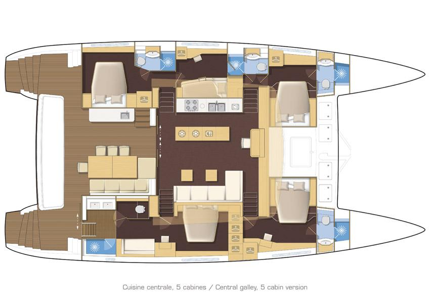 helloManufacturer Provided Image: Lagoon 620 5 Cabin Layout Plan