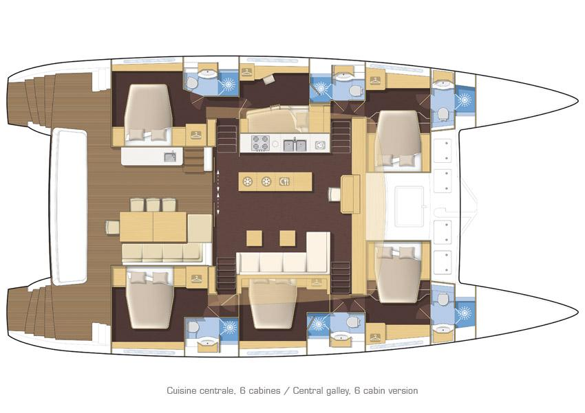 helloManufacturer Provided Image: Lagoon 620 6 Cabin Layout Plan