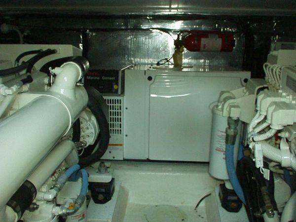 42 Riviera Engine Room