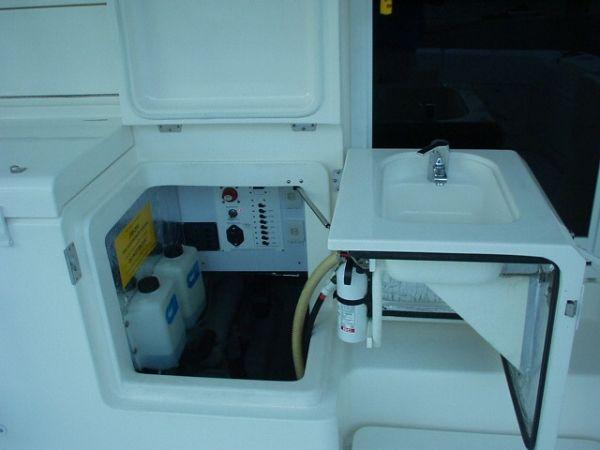 42 Riviera Engine Room Access