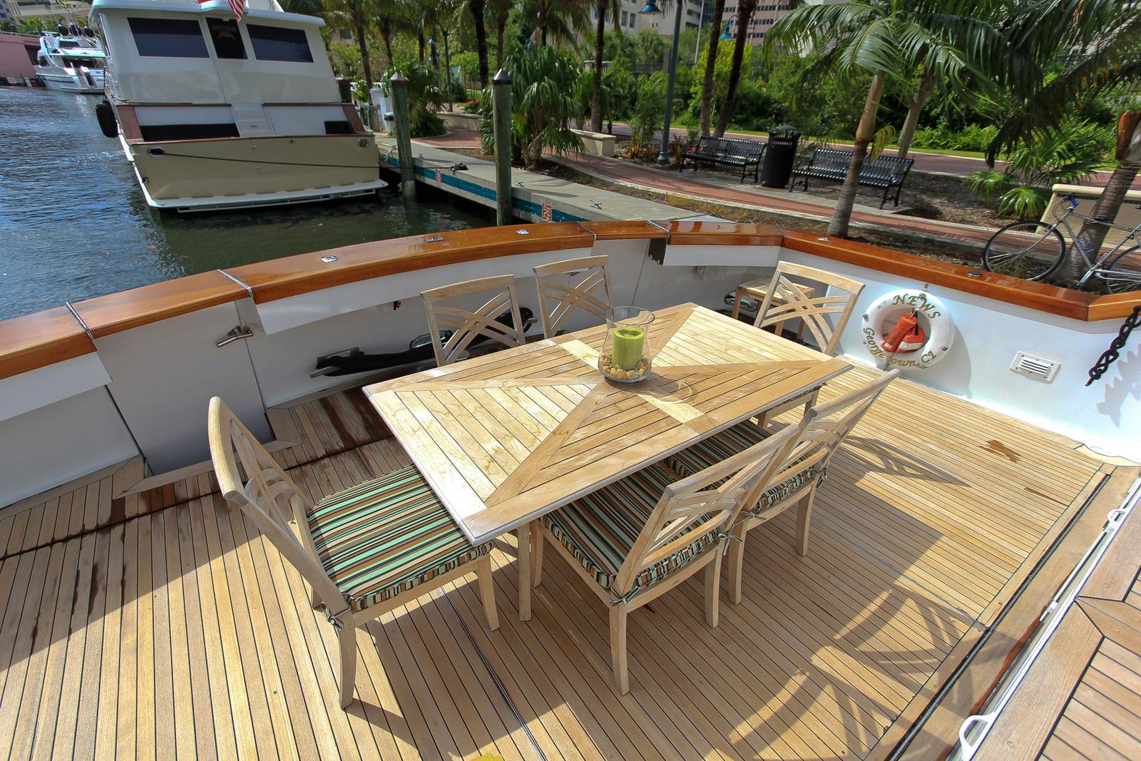 With Teak Table & Chairs And Twin Capstan